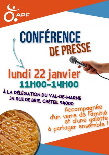 Flyer de la conférence de presse de la DD94 du 22 janvier 2018