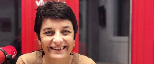 Carole Salères d'APF France handicap sur Vivre FM.