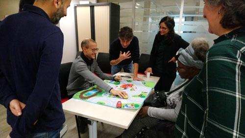Atelier de sensibilisation au handicap cognitif d'APF France handicap au Pôle Emploi de Choisy-le-Roi