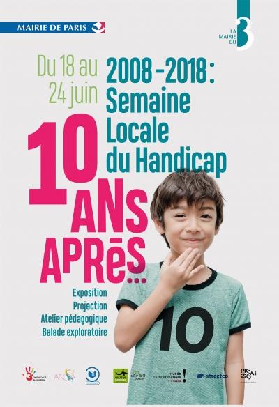 Affiche de la semaine locale du handicap dans le 3ème arrondissement