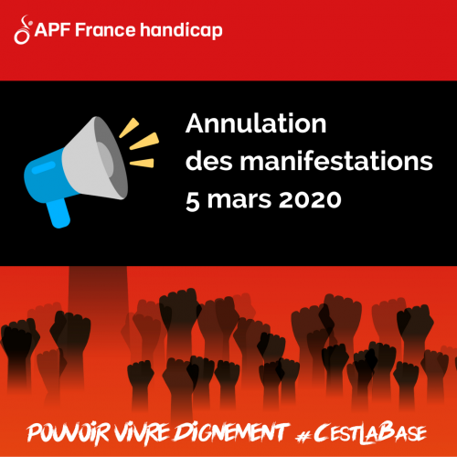 Annulation de la manifestation du 5 mars 2020 !