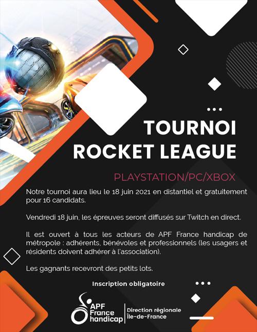 Tournois de Rocket League le 18 juin 2021 organisé par la Direction Régionale Ile-de-France