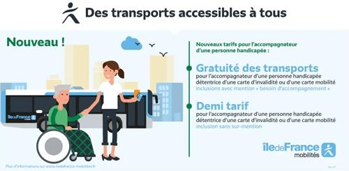 Tarification pour les personnes handicapées et leurs accompagnateurs