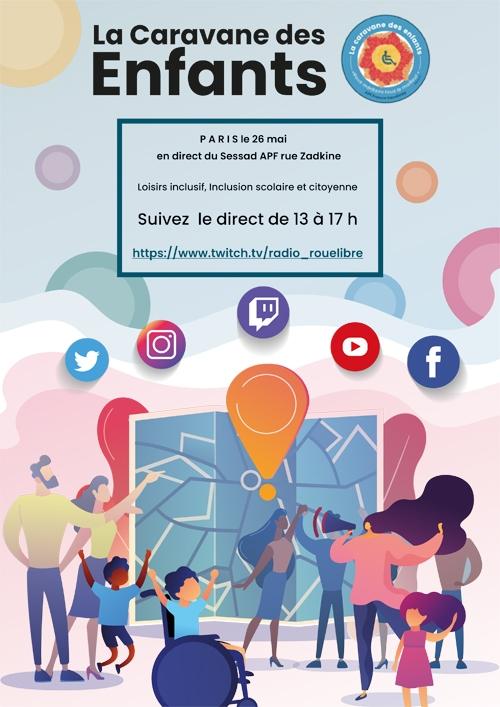 La caravane des enfants au SESSAD de paris - mercredi 26 ami de 13h à 17h