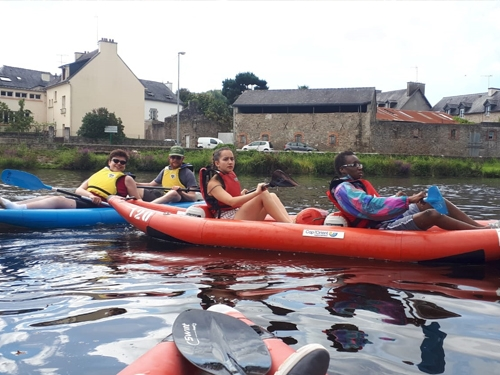 Kayak de mer à Larmor Plage