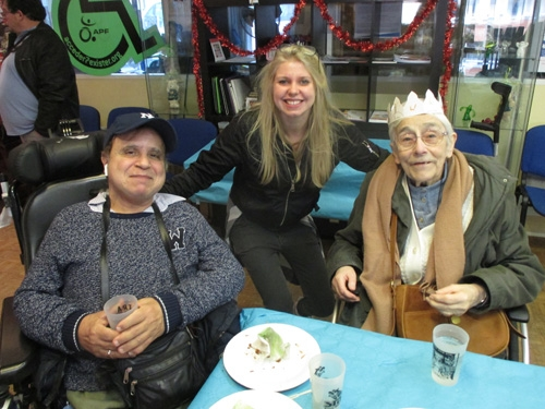 Alain, Lena et Françoise à la galette de la délégation de Paris